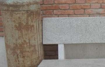 芝麻白花岗岩:石凳
