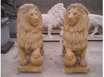 中国石雕网 石雕/雕刻 浮雕 影雕 圆雕 石狮子 青田图片