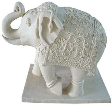 白砂岩动物雕塑