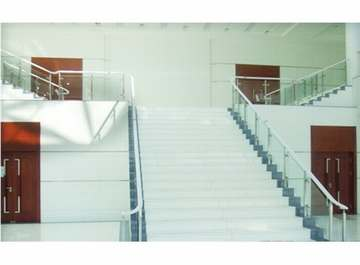 商场白色纳米微晶石 台阶..