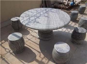 供应莱阳绿圆桌椅