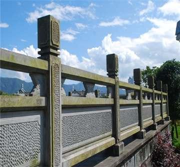 火山石花板栏杆