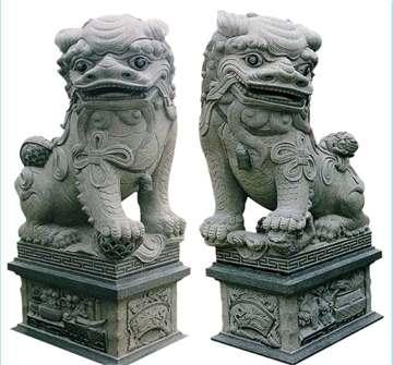 石雕狮子!景观雕塑