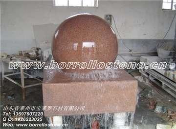 中国红风水球