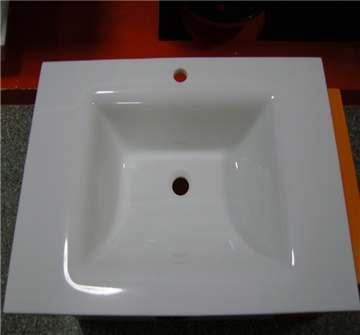 白色微晶石连体盆