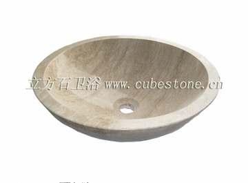 米白洞石洗手盆