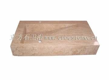 米黄洞石长台盆