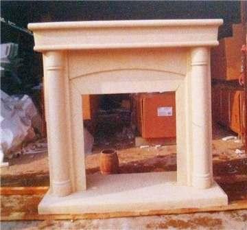 米黄砂岩壁炉