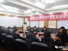 中国国石材协会齐子刚考察灌阳黑白根石材产业