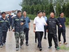 五莲县朱贵友县长到石材产业园安排园镇防台风防汛工作