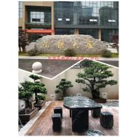 江西九龙玉景石广场石切片茶桌汀步石
