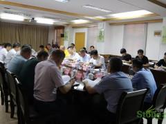 南安市副市长黄景阳到水头组织召开石博会筹备工作会