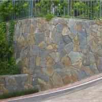 限时出售天然青石乱板 锈色板岩乱形 乱石片地铺砖