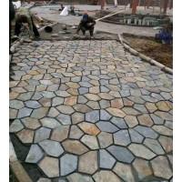 厂家供应冰裂纹石材板岩网贴石碎拼青石板