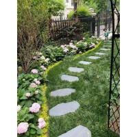 出厂价天然板岩汀步石花园脚踏石 园林草坪踏步石 青石板地砖