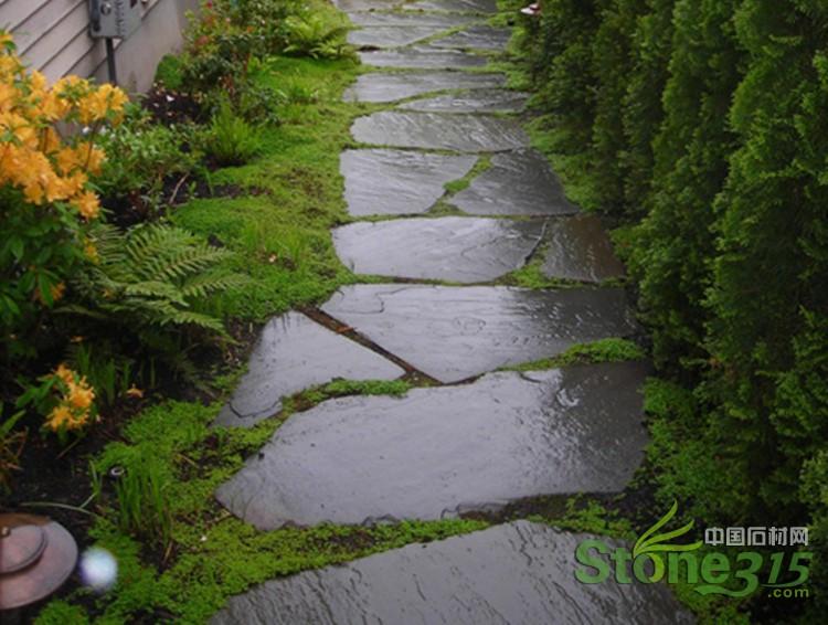 园林景观地面铺路