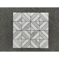 卡拉拉白+水晶白 镶嵌型马赛克