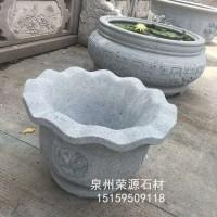 福建石雕厂家直销石雕花钵花盆  仿古水缸鱼缸批发