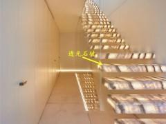 透光石材楼梯装修效果